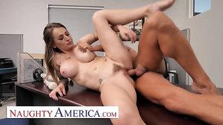 Ultra-Kinky America - Massive mammories manager Natasha Starr pokes her fresh worker