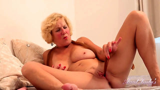 Molly Aj Is A Horny, Blonde Woman Who Likes To Stuff Her Pussy With Nylons While Masturbating