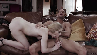 Muscular man gags this bitch then fucks her merciles