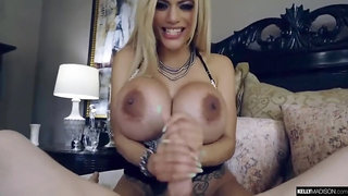 Monster boobs in hardcore action with handjob, titjob and cumshot