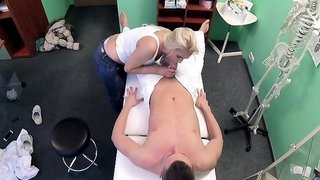 Kathy Anderson In Frisky MILF masseuse fucks doctor