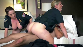 Marcus is ganged up on by perverted milf officers at his hotel