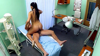 Sexy nurse got bored and fucked with the doctor