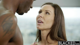 sexy cougar Kendra Lust goes black
