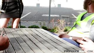 PrivateBlack - Blonde Slut Ria Sunn gets DPed By 4 Big Black Cocks