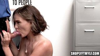Sexy MILF Caught Stealing Anal Toy Tells Mall Cop to Ass Fuck Her to Get Off