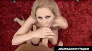Blue Witnessed Cougar Julia Ann Masturbates - Deepthroats Your Jizz-Shotgun Off!