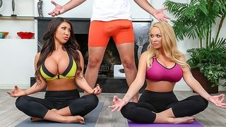 August Taylor & Summer Brielle & Keiran Lee in Working Out The Wives - Brazzers