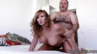 Hairy senior old man fucks horny slut Katerina