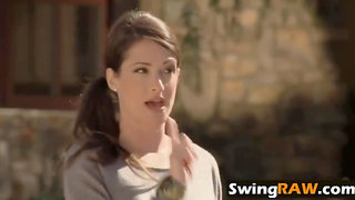 Swinging goes wrong! But the couple still wants to have amazing sex.