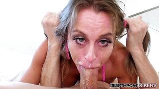 Deepthroat blowjob Corinna Blake