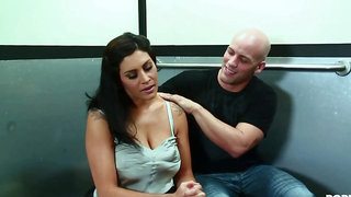 steamy mommy made love in the elevator - big juggs