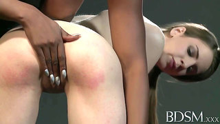 White chick, Stella Cox and her black Mistress are having a great time in the basement