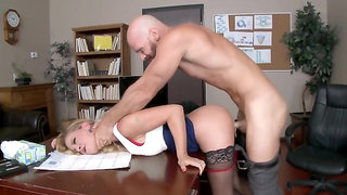 Muscled hunk named Johnny Sins fucks his gorgeous blondie
