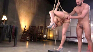 Big Titted Goddess Ryan Keely Fucked, Disciplined in Rope Bondage