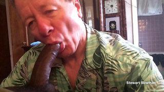Black Stud throat fucks Stewart Bowman with his Huge Black Prick