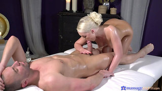Sensual masseuse wants this man's dick in both holes