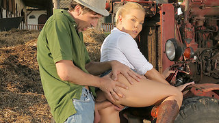 Blondes Love Dick - Valentina Blue Gets Ass Fucked on the Ranch