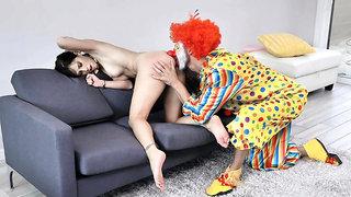 Tricky clown fucked milf Alana