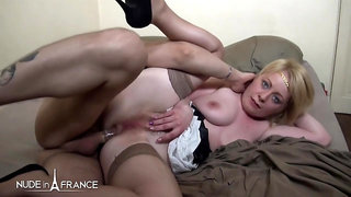 Marion Moon Greedy blonde milf with unshaved pussy