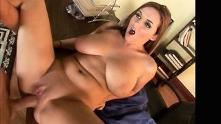 Horny brunette Jenna Doll banged hard and deep in her slutty pussy