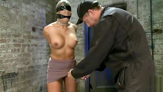 tape blindfolded and gagged