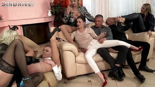 Ally Style, Britany Bardot and Cherry Kiss are having group sex in the middle of the day