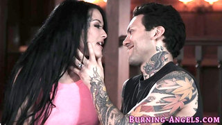 Punk bitch gets fucked by huge dick