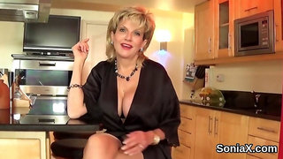 Adulterous english milf lady sonia reveals her giant balloons