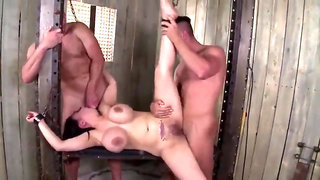 Kinky big boobed asian cougar gets tied, disciplined and double penetration