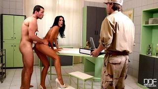 Examination Army - Threesome Ass Fuck On The Examination Table
