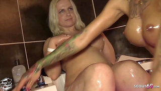 Thin redhead very first time real lesbian with curvy mummy german