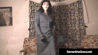 Samantha Grace Gets Remote Controlled & Undresses Herself!