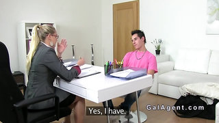 Dude with camera fucks female agent