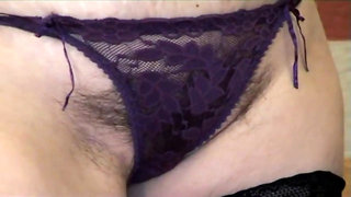 Aunt Judy's - Betty fingers her Gilf pussy