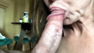 Asian MILF Loves to Taste Cock in Garter and Stockings