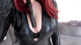 Youtube hottie Christina Khalil in a tight catsuit