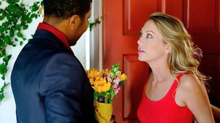 Seductive white angel Adira Allure fucks with a black boyfriend