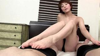 Godlike Saori featuring hot creampie