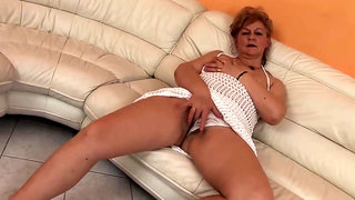 Slutty, Hungarian granny is sucking a younger guys dick and expecting to get fucked very hard