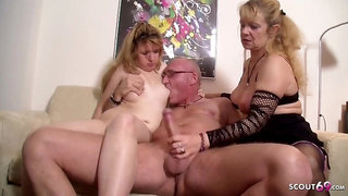 Ugly Teenage Pounded by older Couple in 3Some