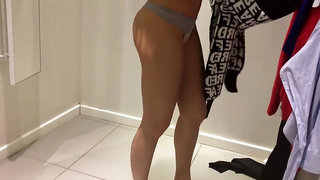 Cute College Girl Has Fun In The Public Dressing Room. Big Ass, Wet Pussy