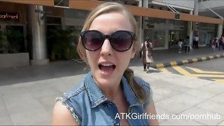 Teenager Karla Kush gets a creampie on your Virtual Vacation to Malaysia