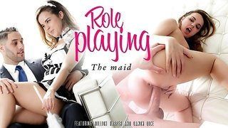 Dillion Harper & Damon Dice in Role Playing - The Maid - EroticaX