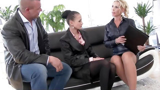 Piss and cum in a business meeting