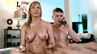 Elegant mom drives son crazy with how slutty she can play