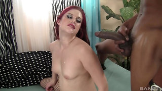 Energized redhead received her first BBC in her life