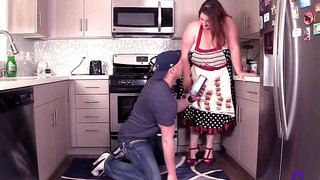 Big Breasts And Milf Porn Busty Housewife Gets Fucked In Her Kitchen, Fatty