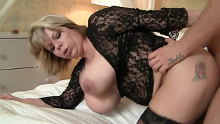 Euro MILF Silvie Wild gets a hard fuck and cum