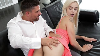 Playful blonde with small tits Elsa Jean screwed in the cowgirl pose
